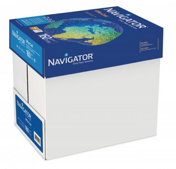 Kopierpapier Navigator Office Card, DIN A4, 160g/qm, weiß, 1.250 Blatt