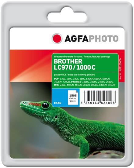 AGFAPHOTO Tintenpatrone Kompatibel zu Brother LC970C / LC1000C Cyan