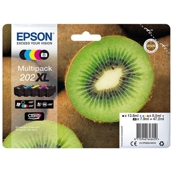 Multipack! Epson C13T02G74010 202XL (5)