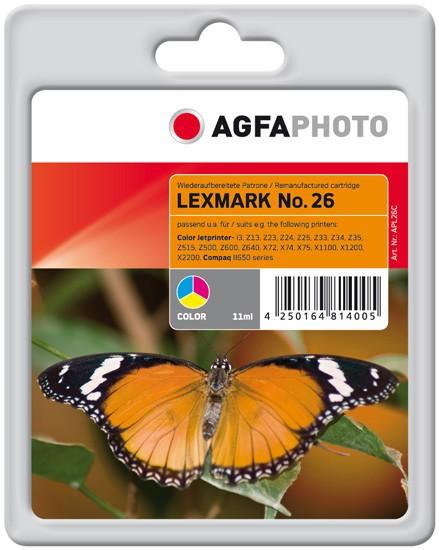 AGFAPHOTO Tintenpatrone Kompatibel zu Lexmark 26 / 10N0026E Color