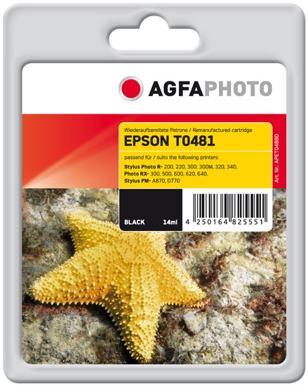 AGFAPHOTO Tintenpatrone kompatibel zu Epson T0481-C13T04814010 Black