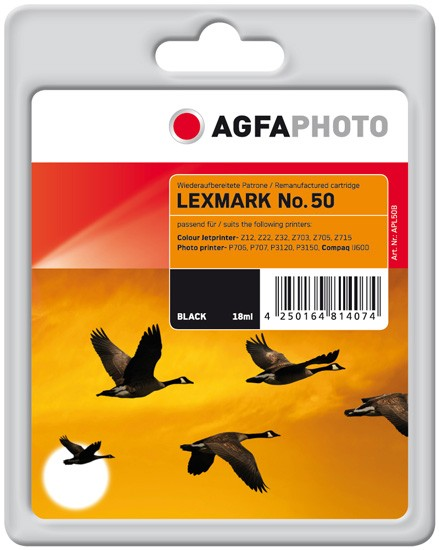 AGFAPHOTO Tintenpatrone Kompatibel zu Lexmark 50 / 17G0050E Black