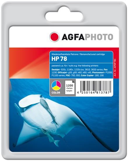 AGFAPHOTO Tintenpatrone kompatibel zu HP 78 XL / C6578AD Color (1.200 S.)