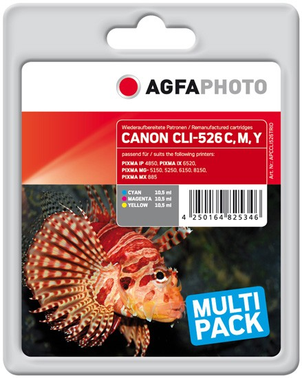 Multipack! AGFAPHOTO Tintenpatronen kompatibel zu Canon CLI-526Z (3)