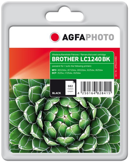 AGFAPHOTO Tintenpatrone kompatibel zu Brother LC1240 Black