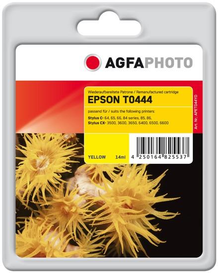 Original AGFAPHOTO Tintenpatrone kompatibel zu Epson T0444-C13T04444010 Yellow