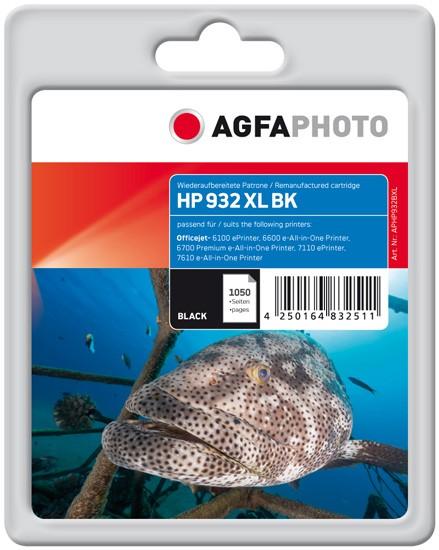 AGFAPHOTO Tintenpatrone kompatibel zu HP 932XL / CN053AE Black