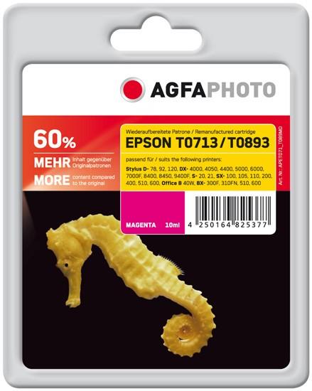 AGFAPHOTO Tintenpatrone kompatibel zu Epson T0713/T0893 C13T07134011/C13T08934011 Magenta