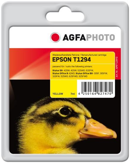 AGFAPHOTO Tintenpatrone kompatibel zu Epson T1294-C13T12944011 Yellow