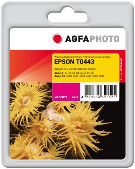 Original AGFAPHOTO Tintenpatrone kompatibel zu Epson T0443-C13T04434010 Magenta