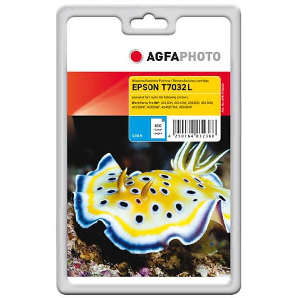 AGFAPHOTO Tintenpatrone kompatibel zu Epson T7032 L - C13T70324010 Cyan