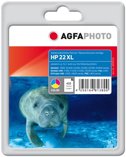 AGFAPHOTO Tintenpatrone kompatibel zu HP 22XL / C9352C Color