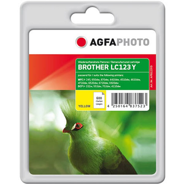AGFAPHOTO Tintenpatrone Kompatibel zu Brother LC123 Yellow