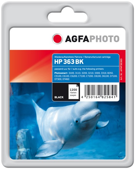 AGFAPHOTO Tintenpatrone Kompatibel zu HP 363XL / C8719EE Black