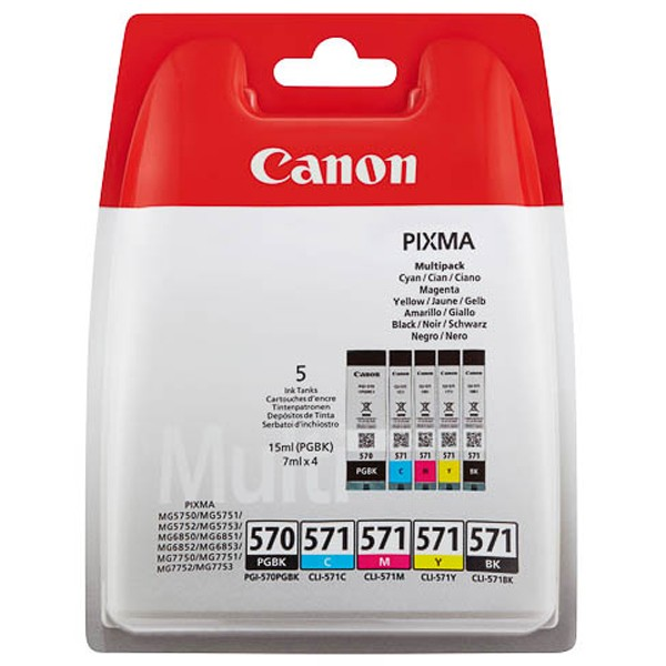 Multipack! Canon PGI-570 CLI-571 0372C004 (5)