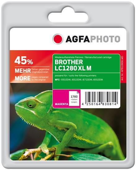 AGFAPHOTO Tintenpatrone kompatibel zu Brother LC1280 XL Magenta