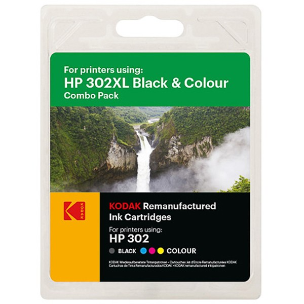 Sparpack! Kodak Tintenpatronen kompatibel zu HP 302XL Black+Color (890 S.)