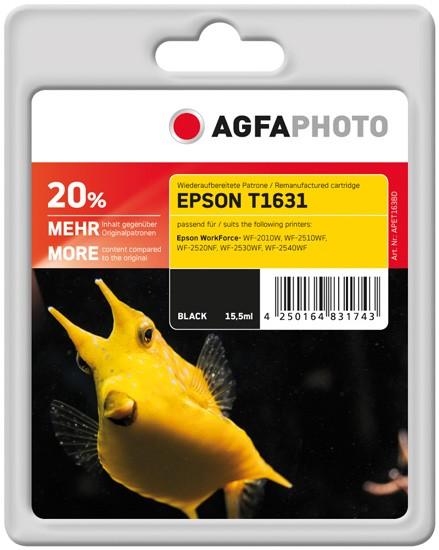 AGFAPHOTO Tintenpatrone kompatibel zu Epson 16XL-T1631-C13T16314012 Black