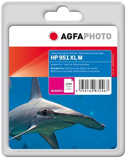 AGFAPHOTO Tintenpatrone kompatibel zu HP 951XL / CN047AE Magenta