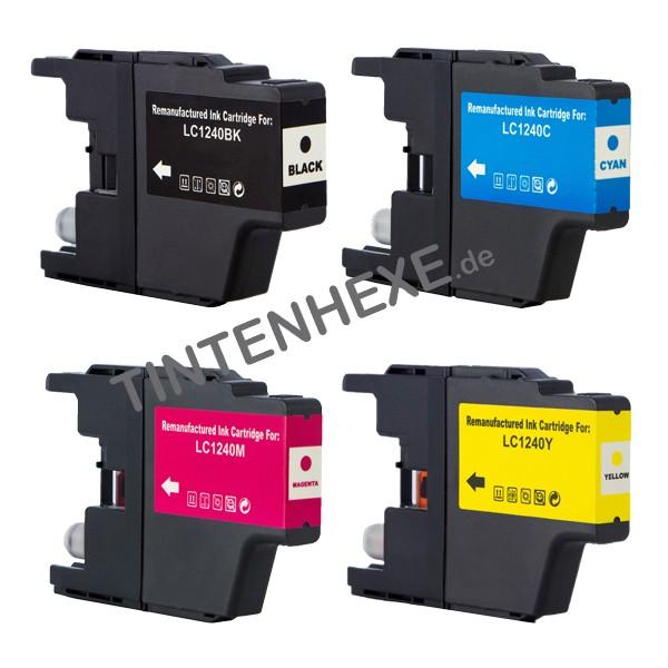 Sparpack! Tintenpatronen kompatibel zu Brother LC1240 LC1240VALBPDR (4)
