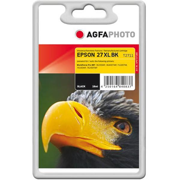 AGFAPHOTO Tintenpatrone kompatibel zu Epson 27XL-T2711-C13T27114012 Black