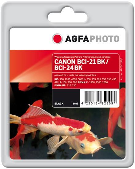 AGFAPHOTO Tintenpatrone kompatibel zu Canon BCI-21/24 Black