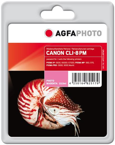 AGFAPHOTO Tintenpatrone kompatibel zu Canon CLI-8 Photo-Magenta