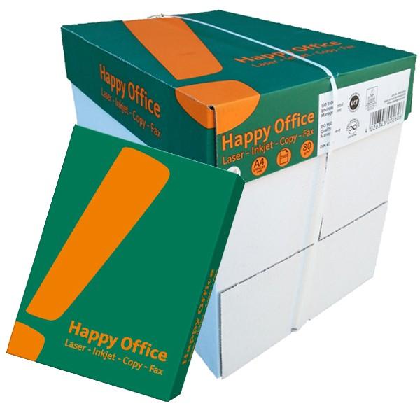 Kopierpapier Happy Office, DIN A3, 80g/qm, weiß, 2.500 Blatt