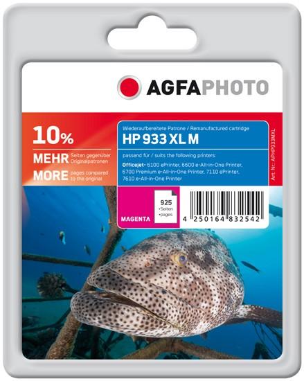 AGFAPHOTO Tintenpatrone kompatibel zu HP 933XL / CN055AE Magenta