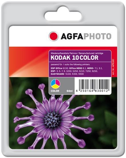 AGFAPHOTO Tintenpatrone kompatibel zu Kodak Nr.10 / 3949930 Color