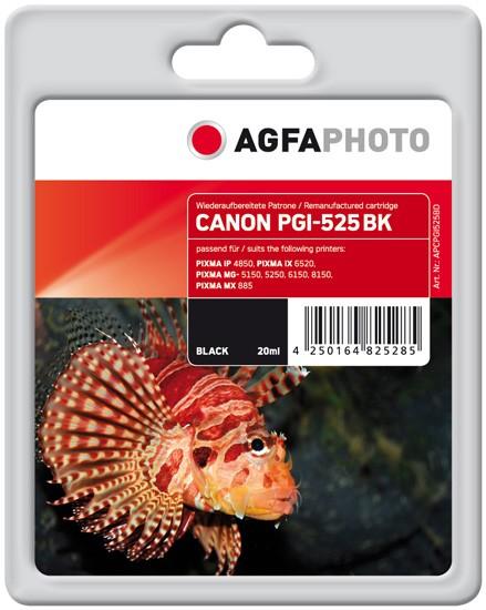 AGFAPHOTO Tintenpatrone kompatibel zu Canon PGI-525 Black