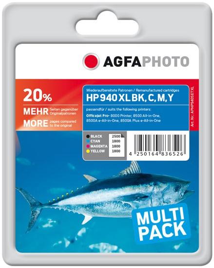 Sparpack! AGFAPHOTO Tintenpatronen kompatibel zu HP 940XL / C2N93AE (4)