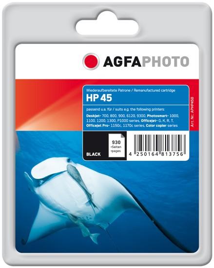 AGFAPHOTO Tintenpatrone kompatibel zu HP 45 / 51645AE Black