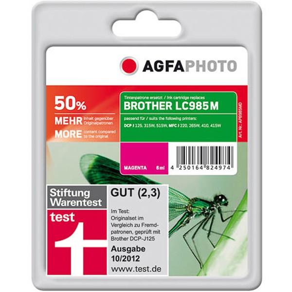 AGFAPHOTO Tintenpatrone kompatibel zu Brother LC985M Magenta