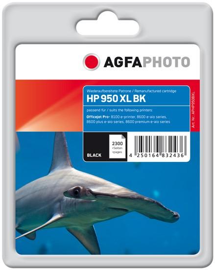 AGFAPHOTO Tintenpatrone kompatibel zu HP 950XL / CN045AE Black