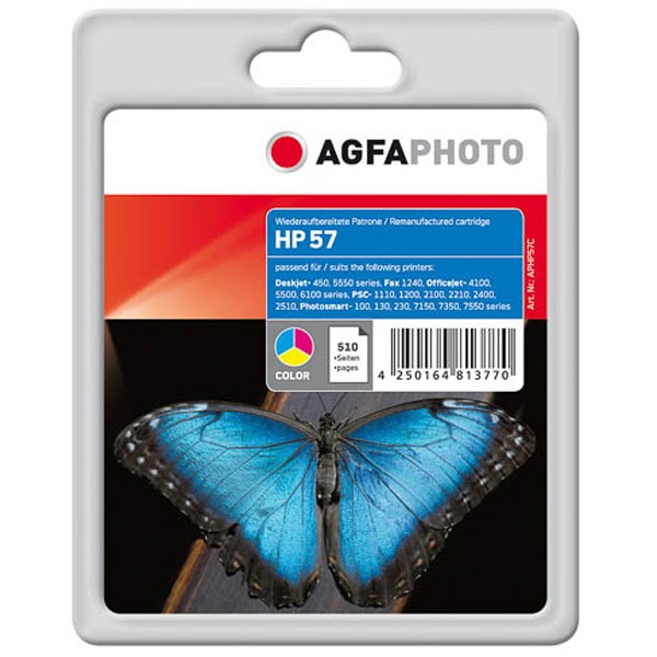 AGFAPHOTO Tintenpatrone kompatibel zu HP 57 / C6657AE Color