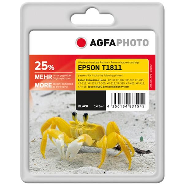AGFAPHOTO Tintenpatrone Kompatibel zu Epson 18XL-T1811-C13T18114012 Black