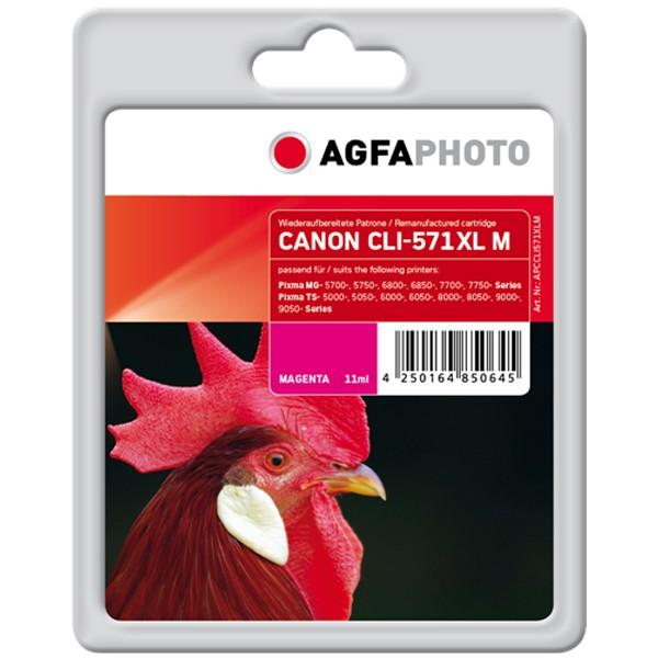 AGFAPHOTO Tintenpatrone kompatibel zu Canon CLI-571XL Magenta