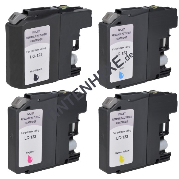 Sparpack! Rebuilt Tintenpatronen kompatibel zu Brother LC123 LC123VALBPDR (4)