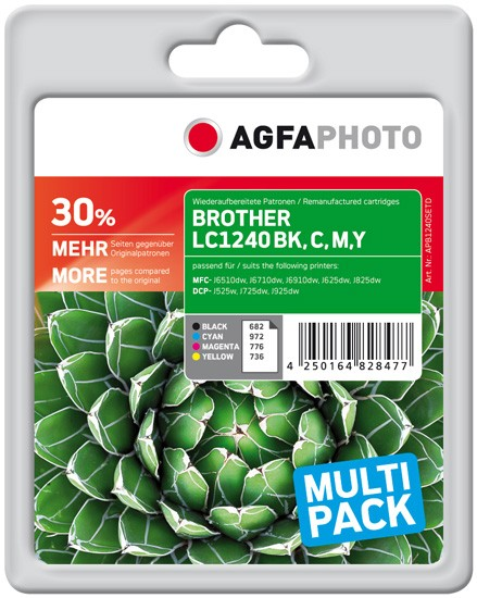 Multipack! AGFAPHOTO Tintenpatrone kompatibel zu Brother LC1240 / LC1240VALBPDR (4)
