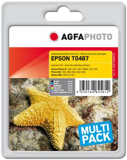 Sparpack! AGFAPHOTO Tintenpatronen kompatibel zu Epson T0487-C13T04874010 (6)