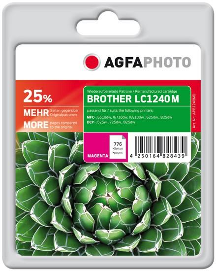 AGFAPHOTO Tintenpatrone kompatibel zu Brother LC1240 Magenta