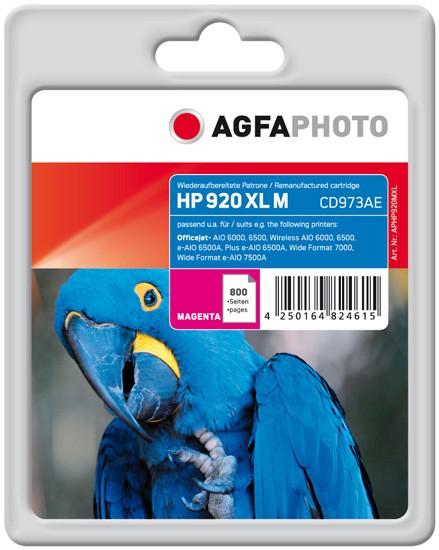 AGFAPHOTO Tintenpatrone kompatibel zu HP 920XL / CD973AE Magenta