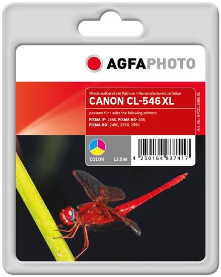 AGFAPHOTO Tintenpatrone Kompatibel zu Canon CL-546XL / 8288B001 Color (300 S.)