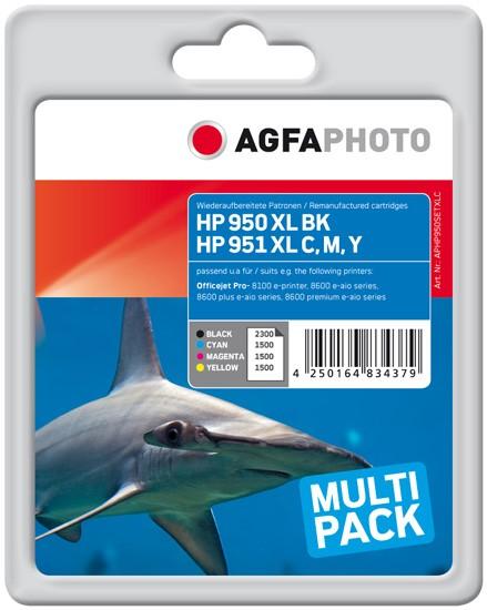Sparpack! AGFAPHOTO Tintenpatronen kompatibel zu HP 950XL - HP 951XL (4)