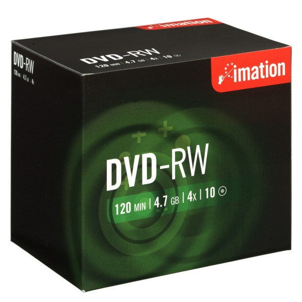 DVD-RW Imation 4.7GB 120Min.4x Jewel Case (10 Stck)