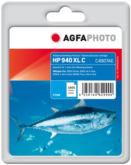 AGFAPHOTO Tintenpatrone kompatibel zu HP 940XL / C4907AE Cyan