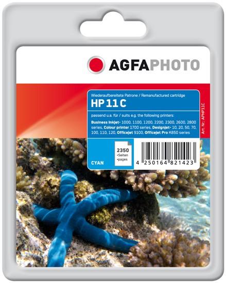 AGFAPHOTO Tintenpatrone Kompatibel zu HP11 / C4836A Cyan