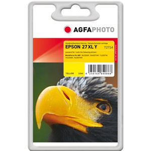 AGFAPHOTO Tintenpatrone kompatibel zu Epson 27XL-T2714-C13T27144012 Yellow