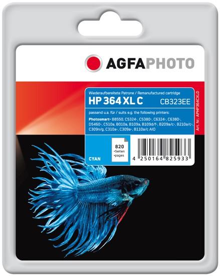 AGFAPHOTO Tintenpatrone Kompatibel zu HP 364XL / CB323EE Cyan